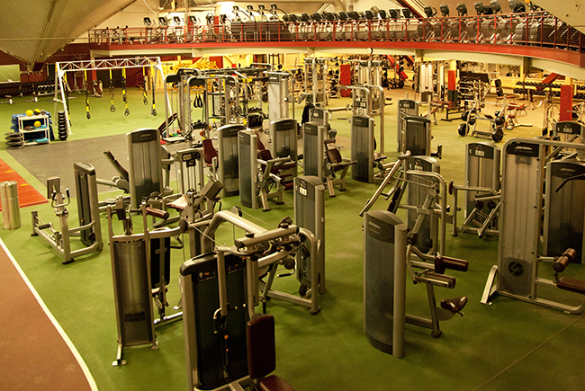 Boston College Fitness Area