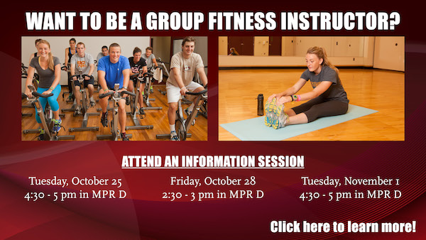 Be a group fitness instructor for BC Rec
