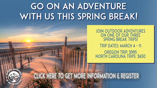 Outdoor adventure spring break trips on sale!