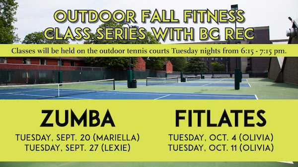 Free group fitness outdoor classes every Tuesday