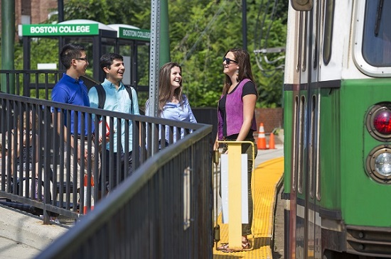 Student by Boston College T station