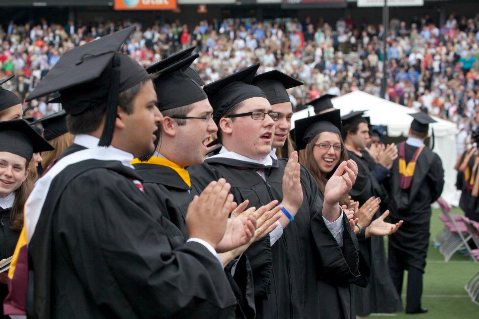 graduates applauding