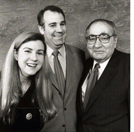 Victor W. Dahar '58 (right), daughter Eleanor W. Dahar '87, and son S. William Dahar II '92 practice together in New Hampshire