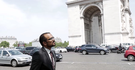 Sajid Shahriar '16 in Paris
