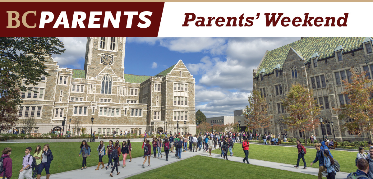 Parents' Weekend - Friday, September 25 to Sunday, September 27