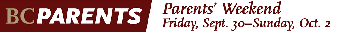parents weekend - friday, sept 26 to sunday, sept. 27