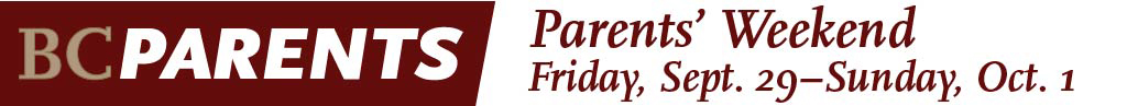 Parents' Weekend - Friday, September 30 to Sunday, October 2