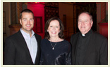 Chris O'Donnell Kathleen M. McGillycuddy and Fr Leahy at Paramount Studios