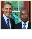 Barak Obama and Paul Altidor