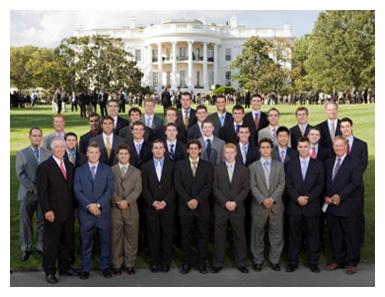 BC hockey team at White House