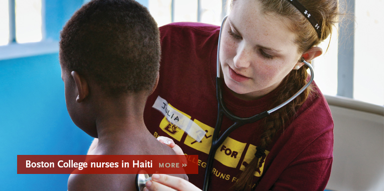 Boston College nurses in Haiti